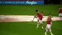 PSG - AS Monaco : Entrée des joueurs monégasques sur la pelouse du Parc des Princes