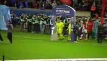 PSG - AS Monaco : Entrée des joueurs sur la pelouse du Parc des Princes