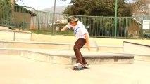 Skateboarding slowed down
