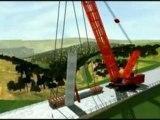 Viaduc de Millau - Construction 3D