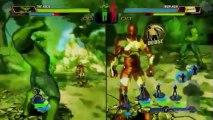 Split Screen Action - Marvel Avengers: Battle for Earth