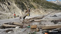 Nettoyage poubelles pollution Mer de Glace Chamonix Mont-Blanc Sport en Ville Lafuma