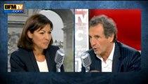 Anne Hidalgo, invitée de Jean-Jacques Bourdin sur BFMTV et RMC ce lundi 23 septembre 2013