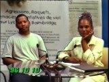 En 1999 Face aux Agressions d'Élèves devant leurs Établissements-Scolaire Yannis MALAHËL Coordinateur de l'ACLERG Association Collégiens Lycéens Étudiants Région GUADELOUPE Interview ELZA Présentatrice TV Antilles France Télévision
