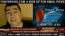 Houston Texans vs. Seattle Seahawks Pick Prediction NFL Pro Football Odds Preview 9-29-2013