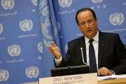 Conférence de presse lors de l'Assemblée Générale des Nations Unies