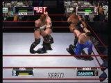 Nintendo 64 - WWF No Mercy - Heavyweight - Match 9 - Steve Austin & The Rock vs HHH & Chris Benoit