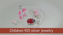 Children's Silver Jewelry Wholesale. Kids silver rings, toe rings, silver pendants, bracelets at factory prices.