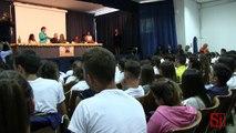 Napoli - Lo chef Maziar Farivar visita la scuola di Scampia (24.09.13)