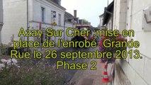 Azay sur Cher Grande Rue mise en place de l'enrobé  (phase2)