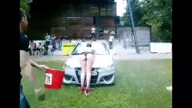 Car wash Show during Tunning Meeting in France.