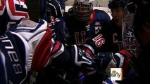 Disabled Army vets find joy in hockey