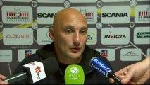 Conférence de presse Angers SCO - Tours FC (1-1) : Stéphane MOULIN (SCO) - Olivier PANTALONI (TOURS) - 2013/2014