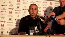 Rugby Top14 - Christophe Urios réagit après USO - Toulon