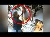 Former soldier Jon Lewis Alexander pulls gun on liquor store robber [REAL FOOTAGE]