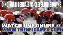 "Watch ""Online"" Cincinnati Bengals vs Cleveland Browns NFL Live Streaming"