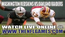 Watch Washington Redskins vs Oakland Raiders Live NFL Game Online