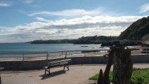 PAISAJE, puerto y playa de Palmera en Candás, 29 sept 2013