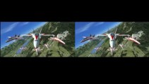 3D Video (Cross Eyed Vision, without Glasses) FSX Swiss Jet Team (6) F18 Formation Flight