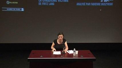 """""""La Cinquième victime"""" de Fritz Lang, analysé par Fabienne Duzynski"""