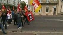 Des centaines de manifestants à Cherbourg pour la visite de Hollande