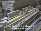 Construction d'une maison en ossature bois dans l'atelier de notre artisan charpentier
