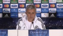 José Mourinho storms out of his Champions League press conference