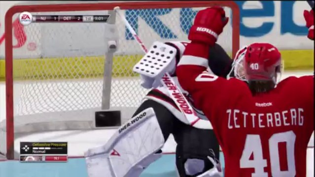 PS3 - NHL 13 - Be A GM - NHL Game 14 - New Jersey Devils vs Detroit Red Wings