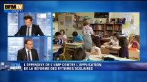 BFM Story: L'offensive de l'UMP contre l'application de la réforme des rythmes scolaires - 01/10