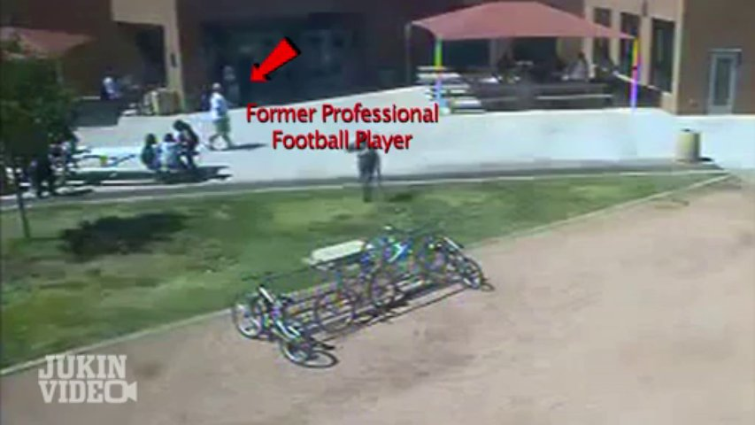 Football Coach Tackle   Former NFL Player Won't Go Down