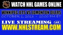 """Watch """"Live"""" Winnipeg Jets vs Edmonton Oilers Internet Streaming"""