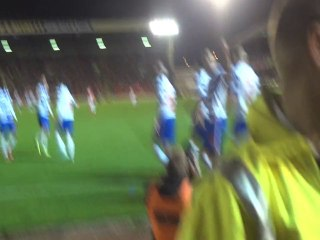 Celebration to Hal Robson Kanu's goal , Barnsley Away 01/10/13