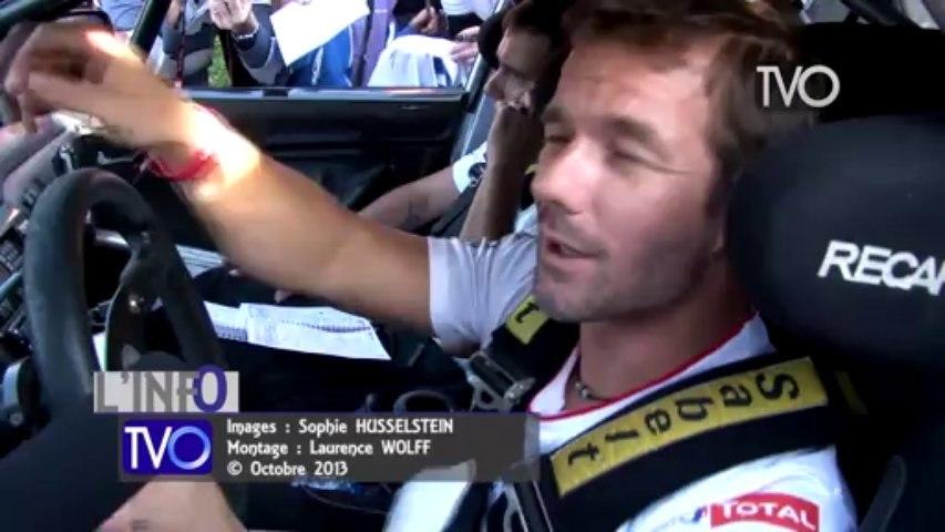 Sébastien Loeb aux reconnaissances de Bischwiller