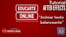 Animar texto balanceante - Tutorial After Effects