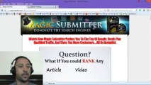 Magic submitter - How I used Magic Submitter to rank on Google