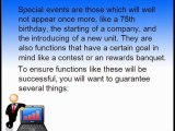 Five Tricks Of Special Events Planning