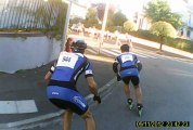 Semi marathon roller Bagnères Tarbes 2013 en caméra embarquée Part1