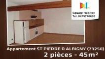A louer - Appartement - ST PIERRE D ALBIGNY (73250) - 2 pièces - 45m²