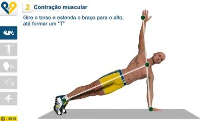 Flexões com rotação de tronco
