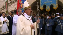 Pope Francis visits Assisi, town of his namesake
