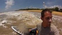 Kite surf en Guyane, plage des salines à Rémire-Montjoly, septembre 2013