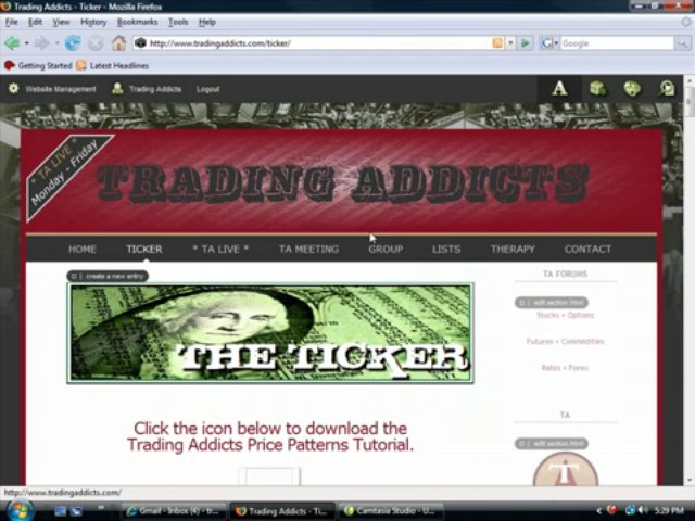 Trading Addicts: Site Tutorial