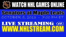 "Watch ""Live"" Ottawa Senators vs Toronto Maple Leafs Internet Streaming"