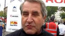 Philippe Richert, président de la Région Alsace, à Haguenau après l'abandon de Sébastien Loeb