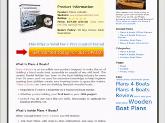 Plans 4 Boats – Wooden Boat Plans