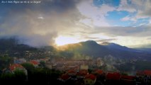 Chronophotographie sur les hauteurs de la ville de Sartene en Corse du Sud Corsica Timelapse