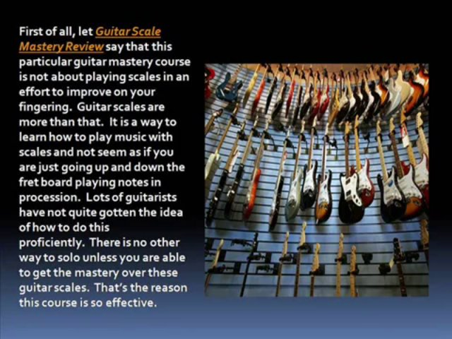 Guitar Scale Mastery Review – Arts Review Center