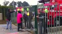 Gad. Les salariés de Lampaul bloquent l'abattoir de Josselin - Gad. Manifestation