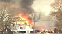 Two firefighters killed by gunman at house fire
