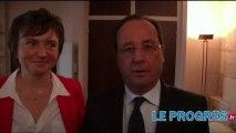 François Hollande en faveur de l'A45 entre Saint-Etienne et Lyon
